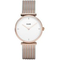 CLUSE Triomphe Rose gold Mix Mesh Watch