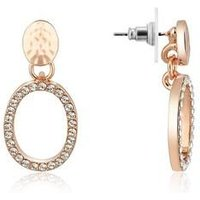 August Woods Rose Gold Open Circle Drop Earrings