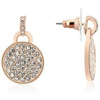 August Woods Rose Gold Small Drop CZ Pave Earrings