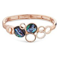 August Woods Rose Gold Abalone Circles Bracelet