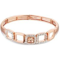 August Woods Rose Gold Champagne Crystal Bracelet