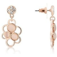 August Woods Rose Gold Pink Stone Circle Earrings