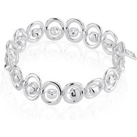 August Woods Silver Chain Elasticated Bracelet