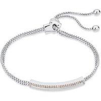 August Woods Silver Crystal Long Bracelet - Assorted
