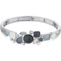 August Woods Silver Grey White Pebble Bracelet