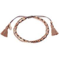 Karma Rose Gold + Grey Tassel Bracelet