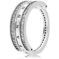 Pandora Flipping Hearts of PANDORA Ring - 56 Pandora Ring