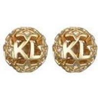 Karl Lagerfeld Gold Karl Star Ball Earring