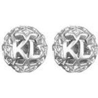 Karl Lagerfeld Silver Karl Star Ball Earring