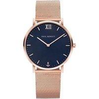 Paul Hewitt Sailor Line Blue + Rose Gold Mesh Watch