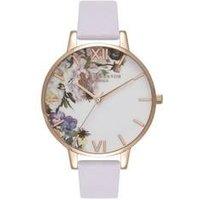 Olivia Burton Floral Parma Violet & Rose Gold Watch