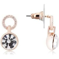 August Woods Rose Gold Crystal Drop Earrings