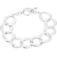 August Woods Silver T-Bar Circlet Bracelet