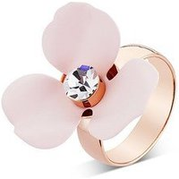 Dirty Ruby Pink Floret Adjustable Ring