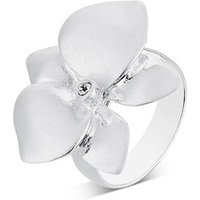 August Woods Silver Flower Shimmer Ring
