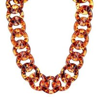 August Woods Tortoiseshell Chain Necklace