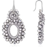 August Woods Dazzling Silver Statement Earrings