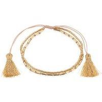 Karma Golden Tassel Pull Bracelet