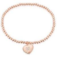 Karma Rose Gold Heart Stretch Bracelet