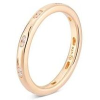 Argento Gold Crystal Stacking Ring - Ring Size 56
