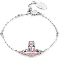 Vivienne Westwood Silver + Pink Celeste Bracelet