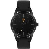 Farah Classic Black Leather Watch - Black