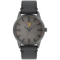 Farah Classic Blue Grey Suedette Watch - Black