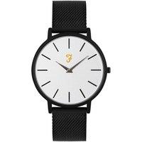Farah Slim Jim Black Mesh + White Dial Watch - Black