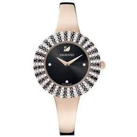 Swarovski Crystal Rose Black + Rose Gold Watch