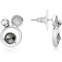 August Woods Silver Shimmer Circle Earrings - Silver