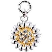Storie Silver & Gold Daisy Pendant Charm - Gold