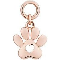 Storie Rose Gold Paw Print Pendant Charm - Rose Gold