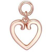 Storie Rose Gold Heart Pendant Charm - Rose Gold