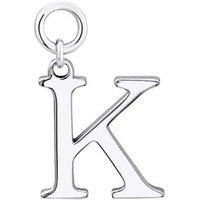 Storie Silver Letter K Pendant Charm - 925 Silver
