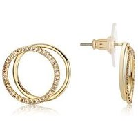 August Woods Gold Circle Crystal Link Earrings - Gold