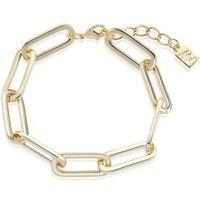 August Woods Gold Rectangle Link Bracelet - Gold