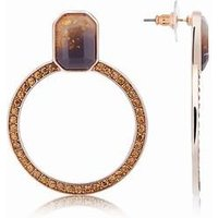 August Woods Rose Gold Divine Circle Earrings - Rose Gold