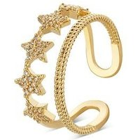 August Woods Gold Crystal Star Adjustable Ring - Gold