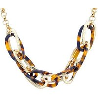 Dirty Ruby Gold Tortoiseshell Necklace - Gold