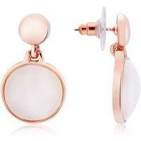 August Woods Rose Gold Rose Opal Drop Earrings - Rose Gold