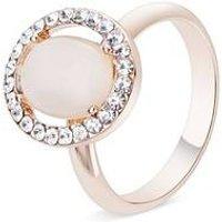 August Woods Rose Gold Rose Opal Adjustable Ring - Rose Gold