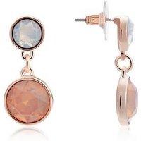 August Woods Rose Gold Rose Opal Earrings - Rose Gold
