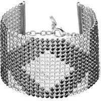 Karl Lagerfeld Silver Crystal Mesh Karl Bracelet