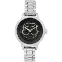 Karl Lagerfeld Silver Choupette Crystal Watch
