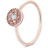 Argento Rose Gold March Halo Adjustable Ring - Rose Gold