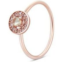 Argento Rose Gold November Halo Adjustable Ring - Rose Gold