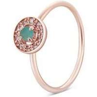 Argento Rose Gold May Halo Adjustable Ring - Rose Gold