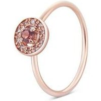 Argento Rose Gold January Halo Adjustable Ring - Rose Gold