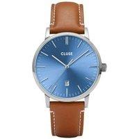 CLUSE Aravis Light Brown + Blue Mens Watch