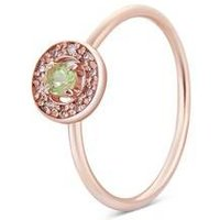 Argento Rose Gold August Halo Adjustable Ring - Rose Gold